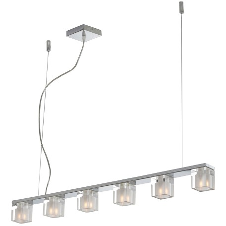 Chrome 6 Light 2.5in. Wide Chandelier from the Blocs Collection