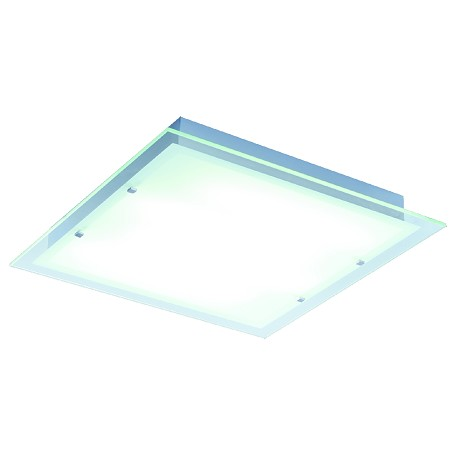 Brushed Aluminum Contempra 4-Bulb Flush Mount Indoor Ceiling Fixture - Glass Shade Included