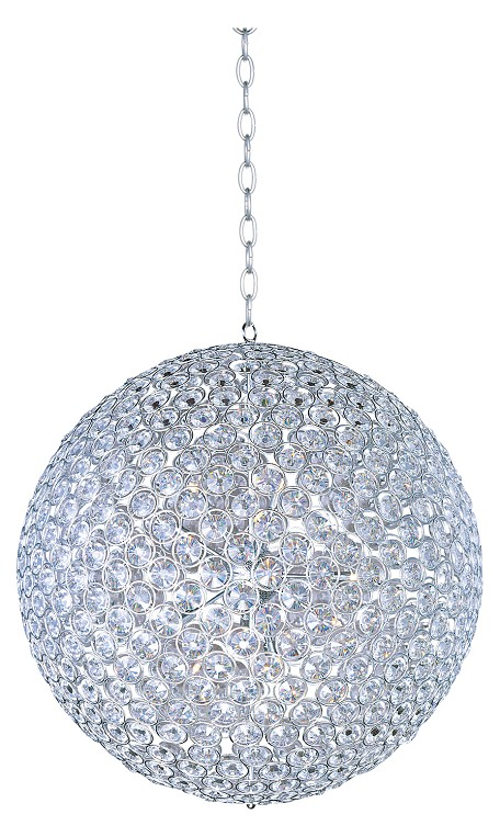 Polished Chrome 15 Light 36In. Wide Pendant From The Brilliant Collection