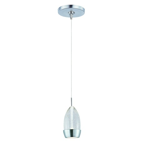 Satin Nickel 1 Light 4.25in. Wide Pendant from the Luxe Collection