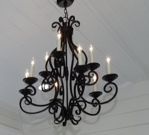 Maxim Nine Light Oil Rubbed Bronze Up Chandelier - 12216OI