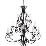 "Manor Collection 15-Light 47"" Oil Rubbed Bronze Foyer Chandelier 12219OI"