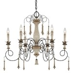 "Accents Provence Collection 6-Light 29"" Provence Patina Chandelier 1236-580"