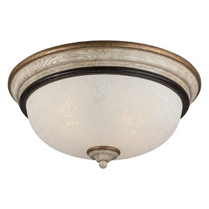 "Accents Provence Collection 2-Light 14"" Provence Patina Flush 1237-580"