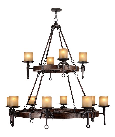 Olde Bronze Cape May 12 Light 2 Tier Chandelier