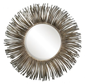 Akisha Oxidized Nickel Metal Starburst Mirror 12845