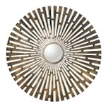 Tremeca Brushed Brass Antiqued Mirror 12846