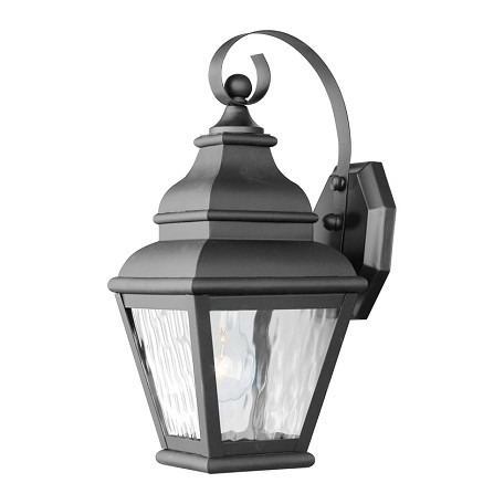 Black Exeter Large Outdoor Wall Sconce with 1 Light