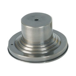 "Vintage Pewter 6"" Round Outdoor Pier Mount Adapter Base 2001-29"