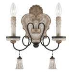 "Accents Provence Collection 2-Light 14"" Provence Patina Wall Sconce 1290-580"