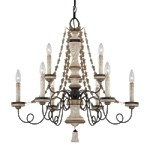 "Accents Provence Collection 9-Light 27"" Provence Patina Chandelier 1299-580"
