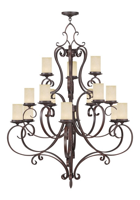Imperial Bronze Millburn Manor 15 Light 3 Tier Chandelier