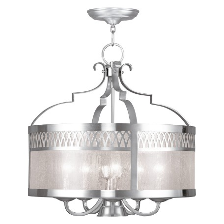 Brushed Nickel Westfield 6 Light 1 Tier Chandelier