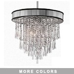 "Shaded Light Design 8-Light 22"" Chrome Crystal Hanging Pendant with Micro Shade SKU# 13053"