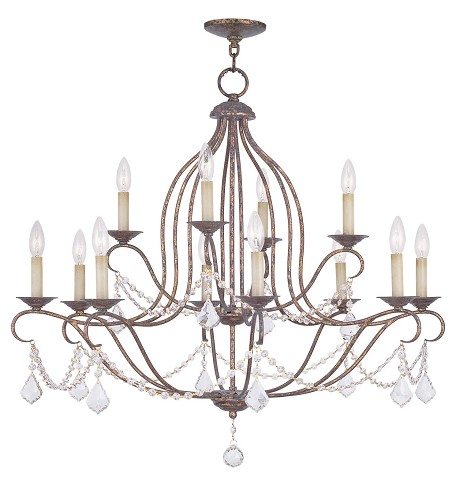 Venetian Golden Bronze Up Chandelier