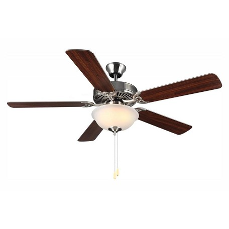 Monte Carlo Two Light Nickel Ceiling Fan - BF2-BS