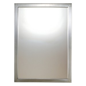 "Paradox Collection 33"" Brushed Nickel Rectangular Mirror 1430-84"