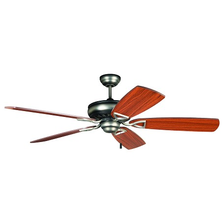 "Supreme Air Collection 56"" Antique Nickel Ceiling Fan with Teak & Birch Blades SUA56AND5"