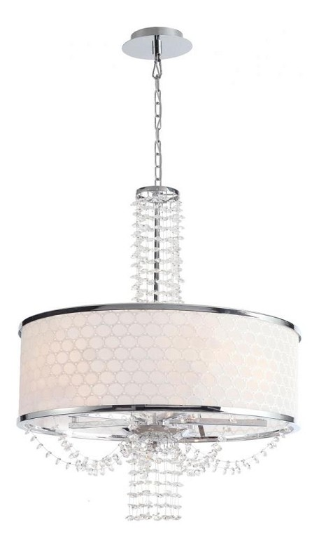 "Allure Collection 5-Light 20"" Chrome Mini Chandelier with Hand Polished Crystal 9805-CH"