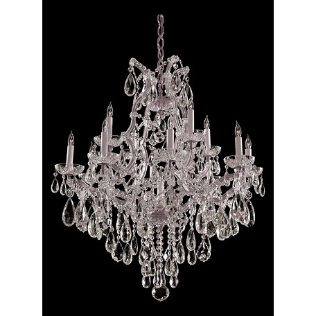 "Maria Theresa Collection 13-Light 28"" Polished Chrome Chandelier with Swarovski Elements Crystal 4413-CH-CL-S"