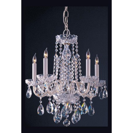"Traditional Crystal Collection 5-Light 18"" Polished Chrome Mini Chandelier with Swarovski Elements Crystal 1061-CH-CL-S"