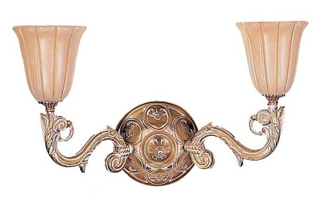 "Natural Alabaster Collection 2-Light 21"" French White Wall Sconce with Alabaster Stone 892-WH"
