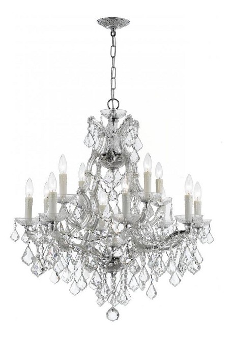 "Maria Theresa Collection 13-Light 29"" Polished Chrome Chandelier with Swarovski Elements Crystal 4412-CH-CL-S"