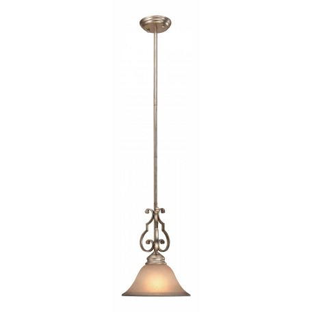 Crystorama One Light Distressed Twilight Down Pendant - 7521-DT