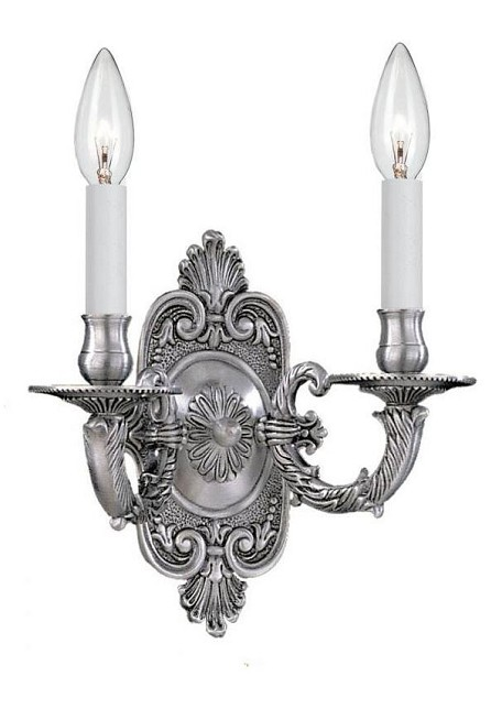 "Arlington Collection 2-Light 10"" Pewter Wall Sconce 642-PW"