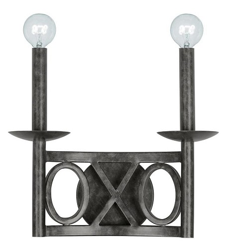 "Odette Collection 2-Light 12"" English Bronze Wall Sconce 9242-EB"