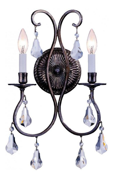 "Ashton Collection 2-Light 10"" English Bronze Wall Sconce 5012-EB-CL-MWP"