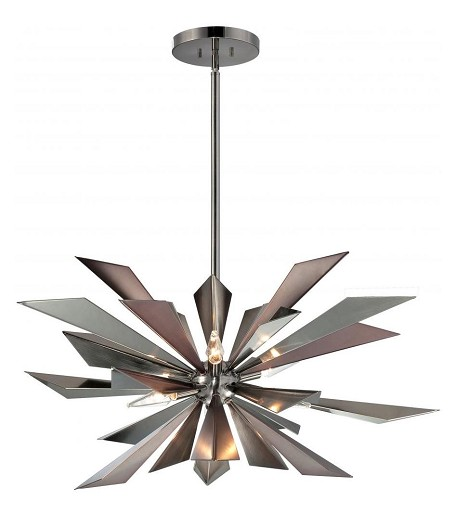 "Galaxy Collection 7-Light 28"" Midnight Chrome Chandelier 1529-MC"