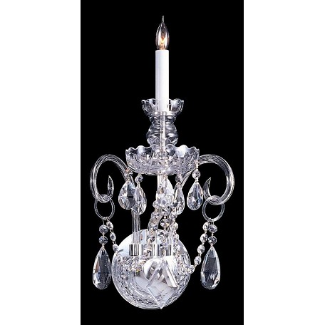 "Traditional Crystal Collection 1-Light 9"" Polished Chrome Mini Chandelier with Swarovski Spectra Crystal 1141-CH-CL-SAQ"