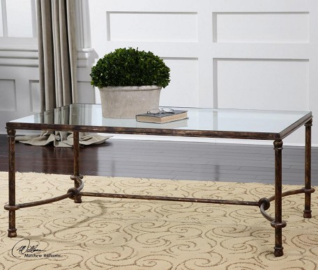 Rustic Bronze Patina Furniture Tables Coffee Tables From The Warring Series