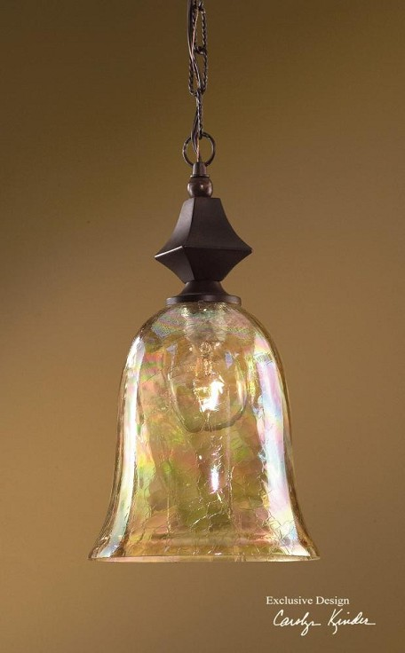 Distressed Spice Traditional 1 Light Mini Pendant from the Elba Collection