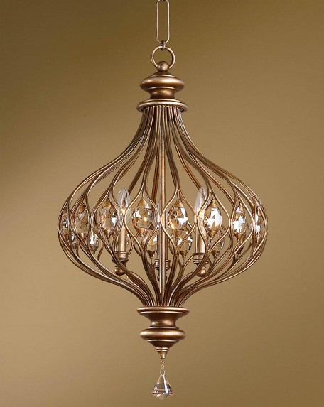 Burnished Gold Sabina 3 Light Pendant