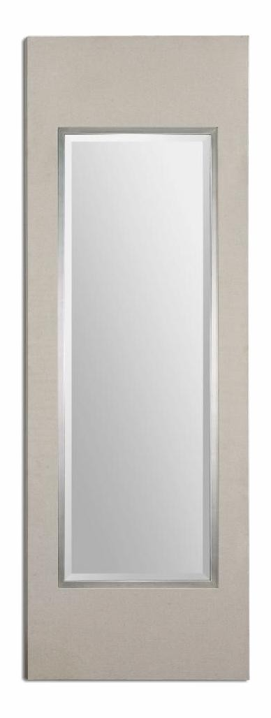 Silver Clevon 29.5In.W X 85.5In.H Rectangular Wall Mirror