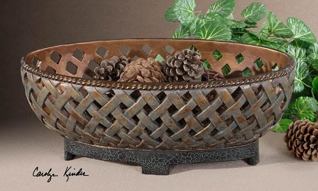 Copper Bronze Teneh Bowl