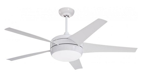 Appliance White Midway Eco 54in. 5 Blade Ceiling Fan - Blades and Light Kit Included