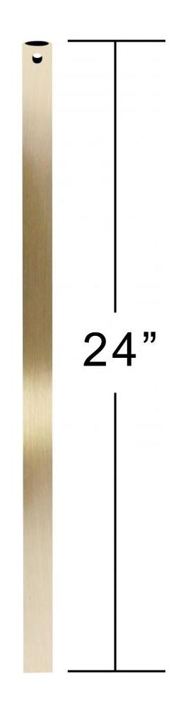 Antique Brass 24in. Unthreaded Downrod