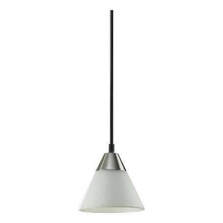 "Quorum International 1-Light 5"" Satin Nickel Pendant 1325-665"