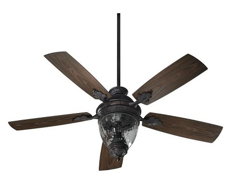 "Georgia Patio Family 52"" Toasted Sienna Outdoor Ceiling Fan with Light Kit 174525-944"