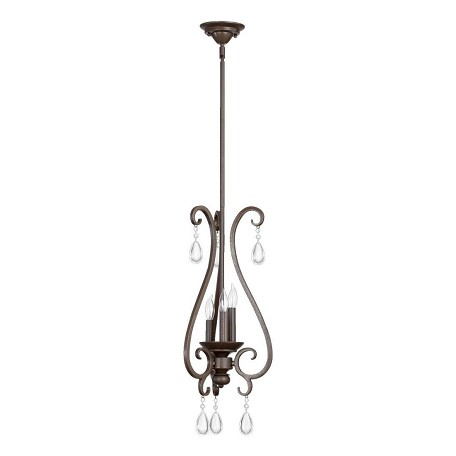 "Anders Family 3-Light 28"" Oiled Bronze Pendant 3013-3-86"