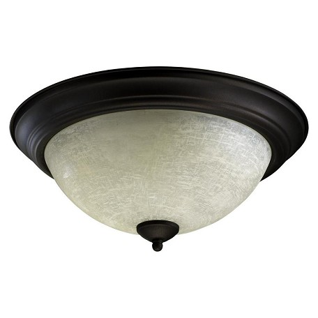 "Quorum International 15"" Oiled Bronze Flush Mount 3067-15-86"