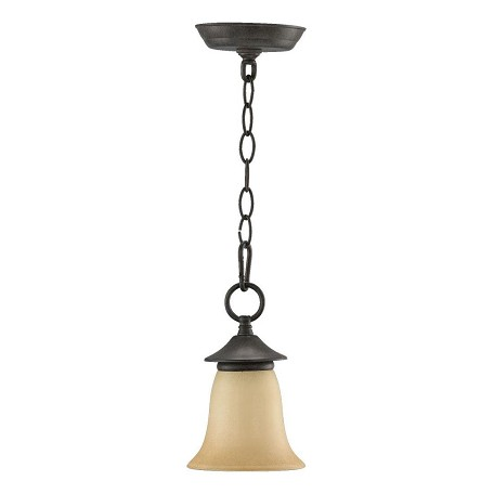"Coventry Family 1-Light 8"" Toasted Sienna Pendant 315-44"