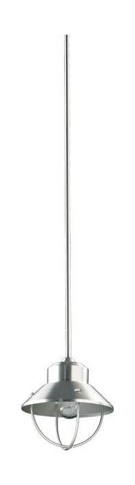 "Quorum International 1-Light 10"" Satin Nickel Pendant 3611-1-65"