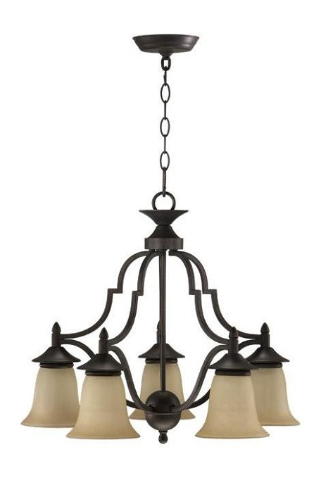 "Coventry Family 22"" Toasted Sienna Chandelier 616-5-44"