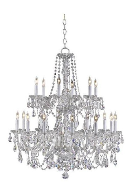 "Bohemian Katerina Family 32"" Chrome Chandelier 631-18-514"