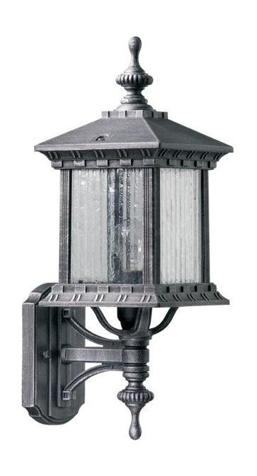 Huxley Family 1-Light Rustic Silver Outdoor Wall Lantern 7460-72