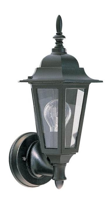 Quorum 790 15 One Light Black Clear Glass Wall Lantern